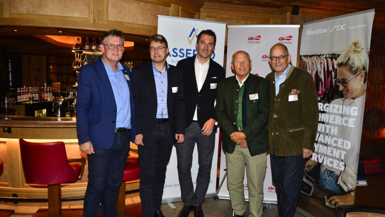 Urs Weber (Generalsekretär HKSÖL) , Dieter Bartl (Assepro Management AG), Michal Spiller (Lindt & Sprüngli Austria GmbH), Heinz Felsner (Präsdient HKSÖL), Claus Widrig (Leaders Solutions)