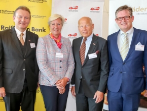 HKSÖL Präsidium: Markus Schweizer, Angelika Moosleithner, Heinz Felsner, Generalsekretär Urs Weber