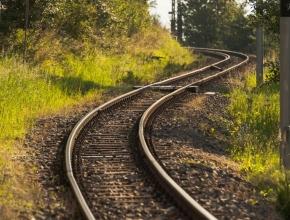 Foto von Bahnschienen