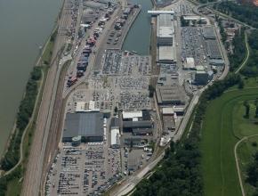 Der Hafen Wien ist ein Beispiel für eine multimodale Logistikdrehscheibe. (Bild: Hafen Wien)